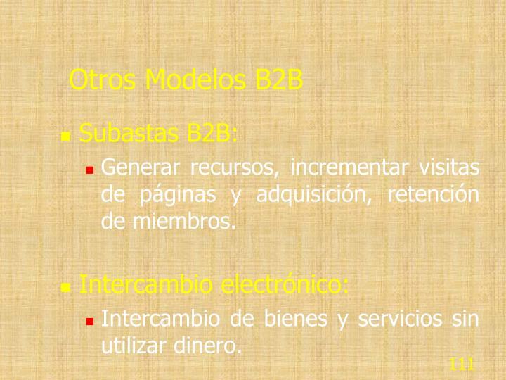 Otros Modelos B2B