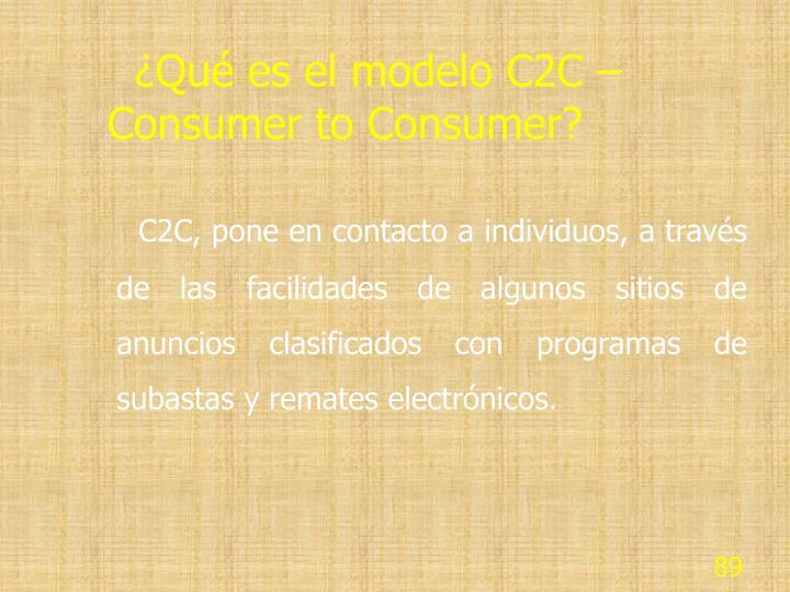 ¿Qué es el modelo C2C – Consumer to Consumer?