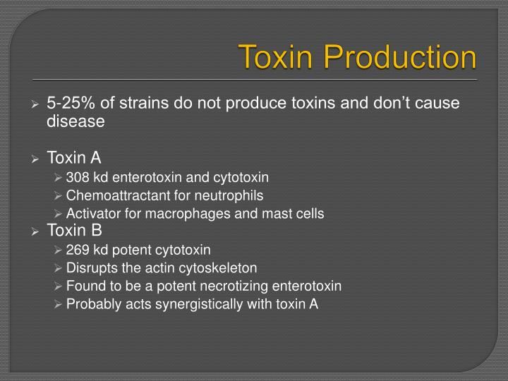 Toxin Production