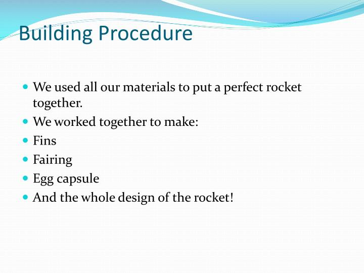 Building procedure