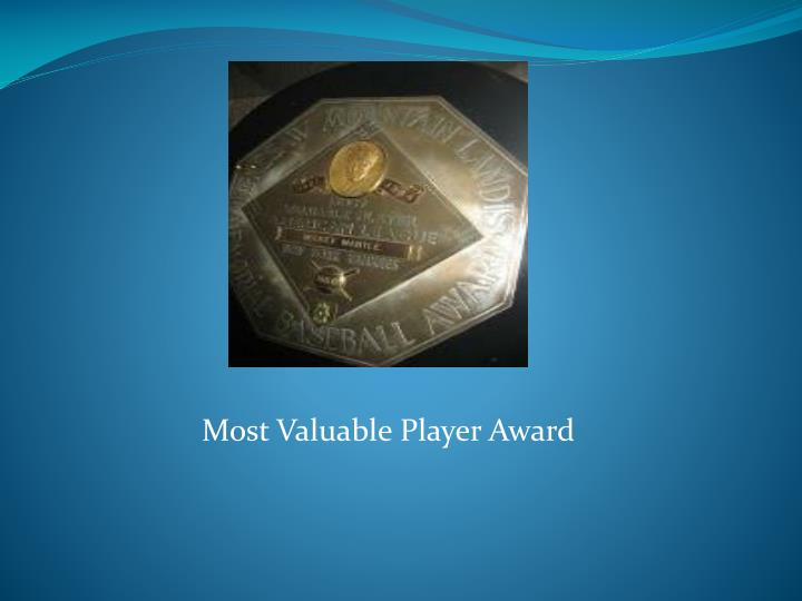 Most Valuable Player Award