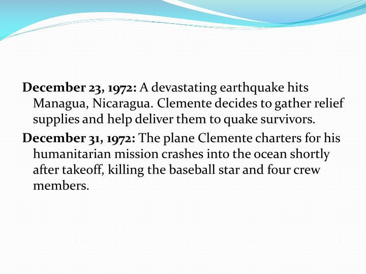 December 23, 1972: