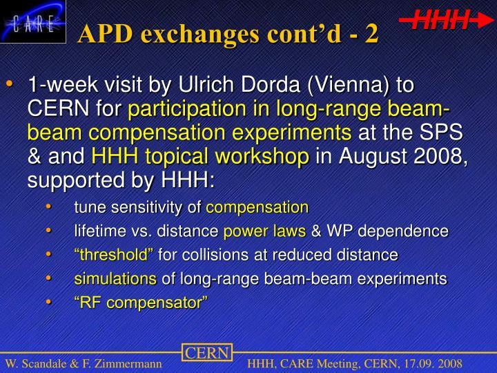 APD exchanges cont'd - 2
