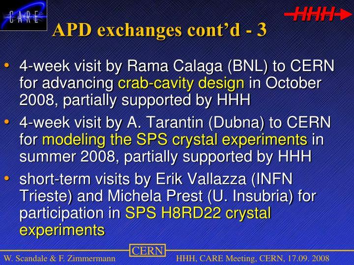 APD exchanges cont'd - 3