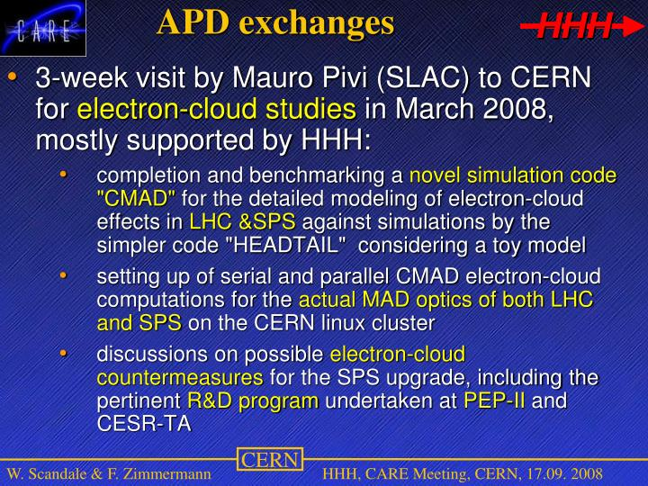 APD exchanges
