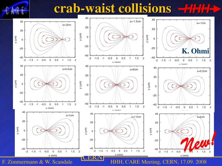 crab-waist collisions