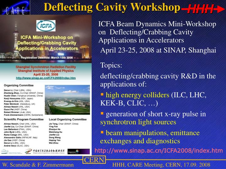 Deflecting Cavity Workshop