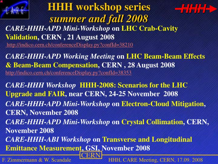 HHH workshop series