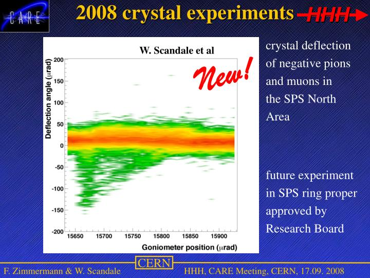 2008 crystal experiments
