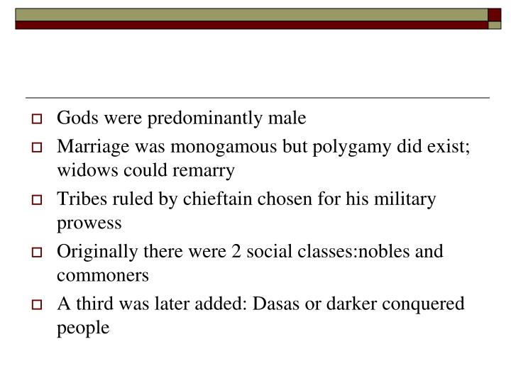 Gods were predominantly male