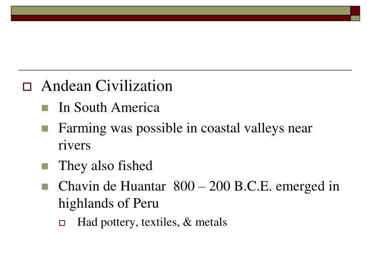 Andean Civilization