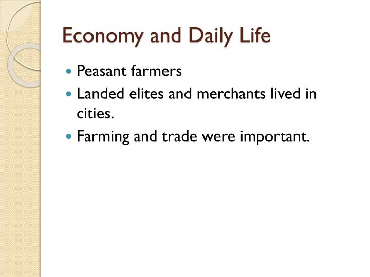 Economy and Daily Life