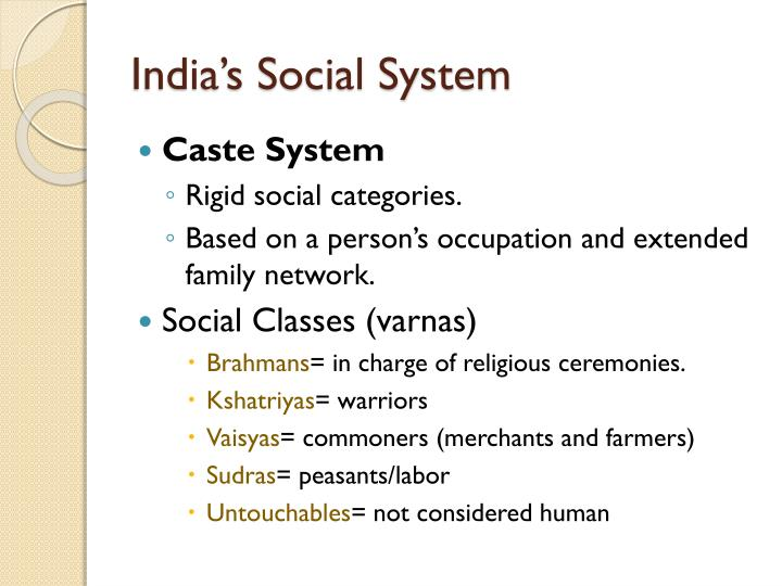 India's Social System