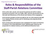 roles responsibilities of the staff parish relations committee10