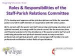 roles responsibilities of the staff parish relations committee11