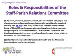 roles responsibilities of the staff parish relations committee12