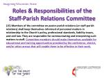 roles responsibilities of the staff parish relations committee16