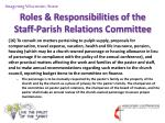 roles responsibilities of the staff parish relations committee17