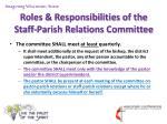 roles responsibilities of the staff parish relations committee6