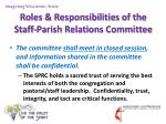 roles responsibilities of the staff parish relations committee8
