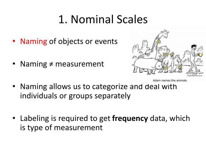 1. Nominal Scales