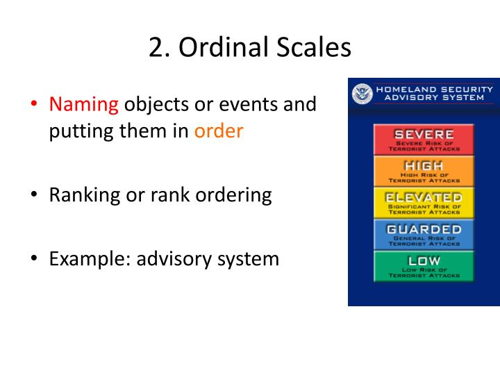 2. Ordinal Scales