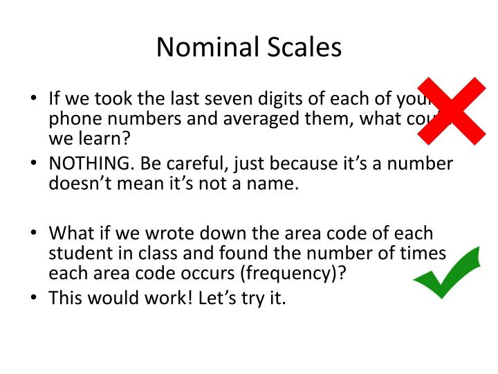 Nominal Scales