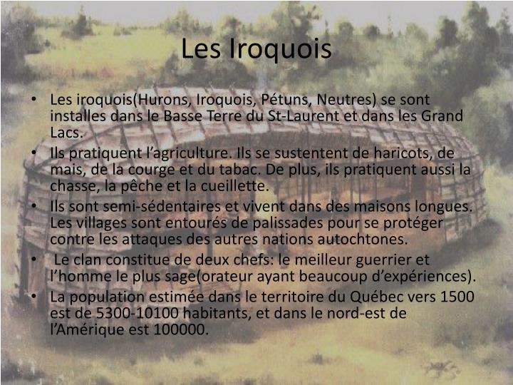 Les Iroquois