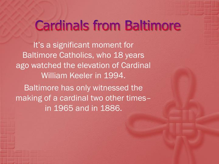Cardinals from Baltimore