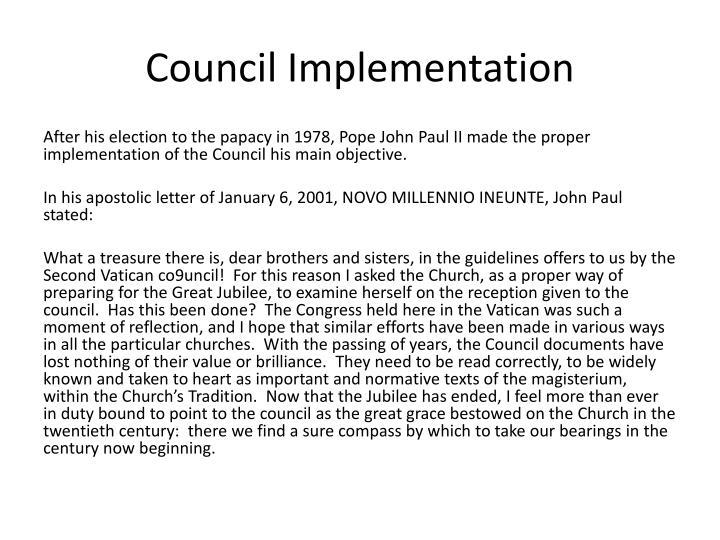 Council Implementation