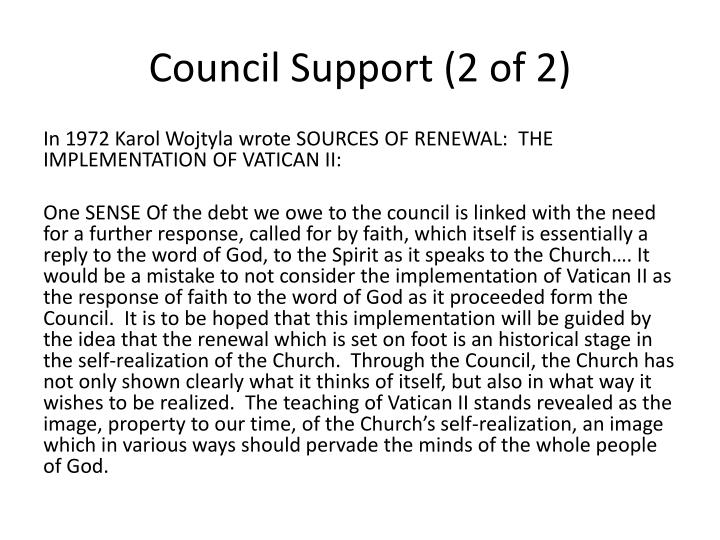 Council Support (2 of 2)