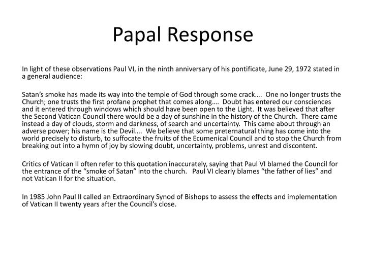 Papal Response