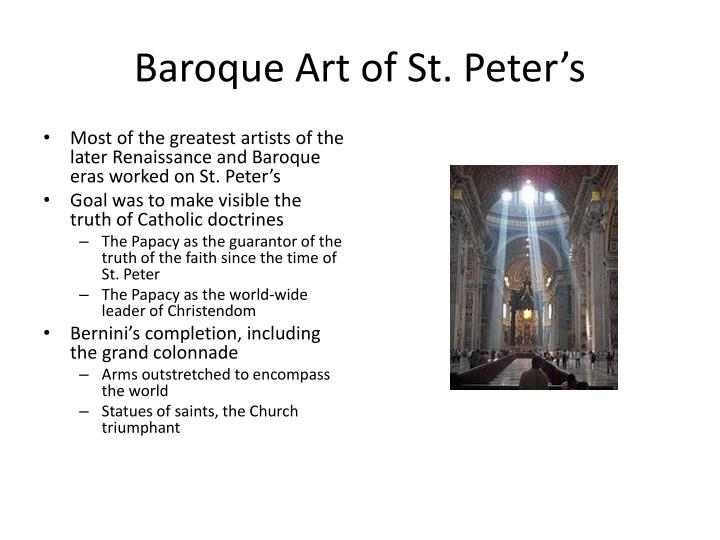 Baroque Art of St. Peter's