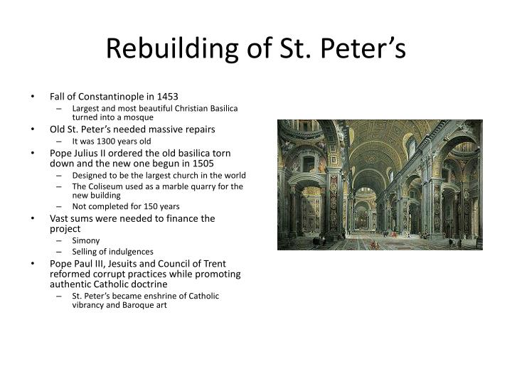 Rebuilding of St. Peter's
