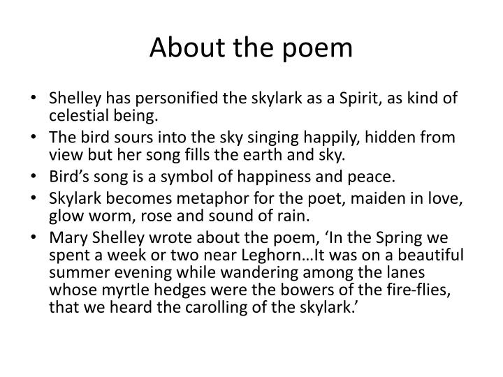 About the poem