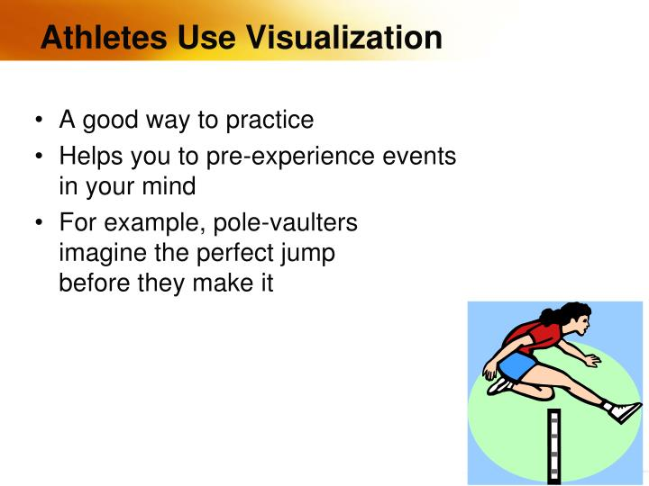 Athletes Use Visualization
