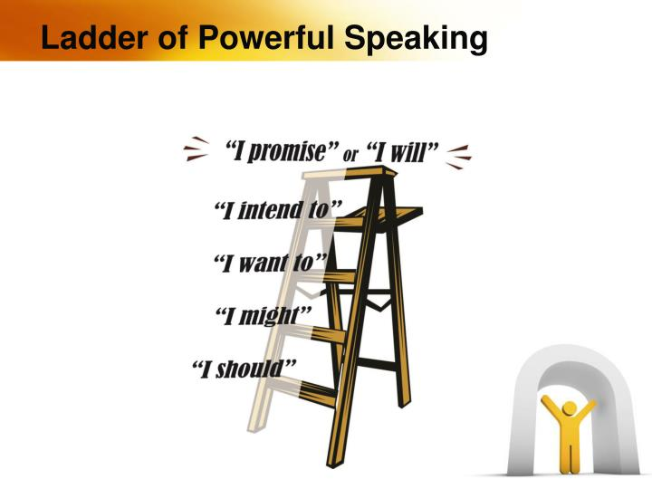 Ladder of Powerful Speaking
