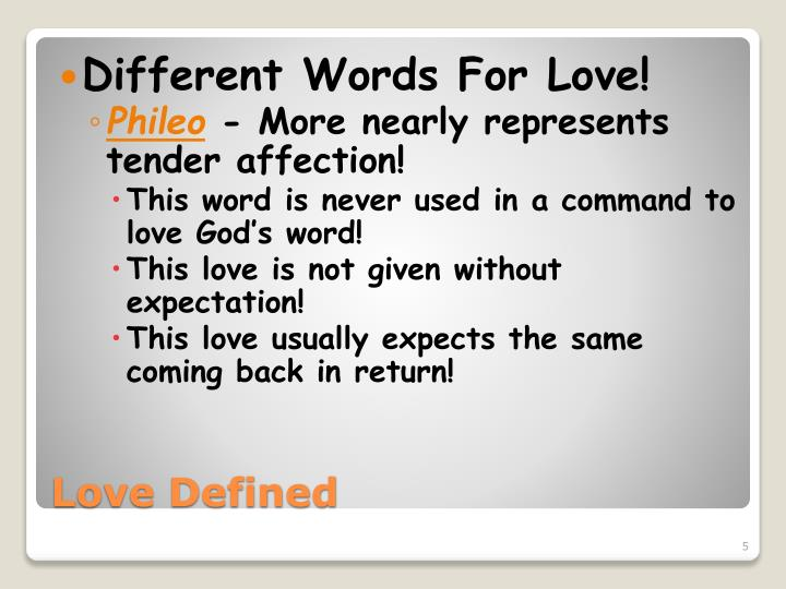 Different Words For Love!