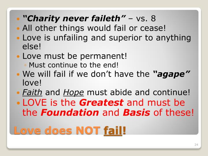 """Charity never"
