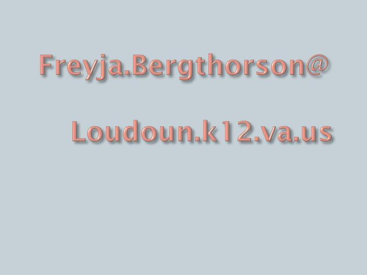 Freyja.Bergthorson@