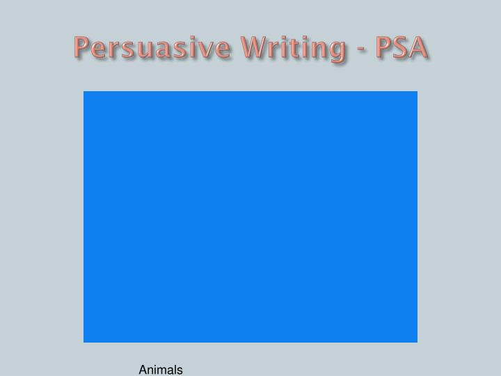 Persuasive Writing - PSA