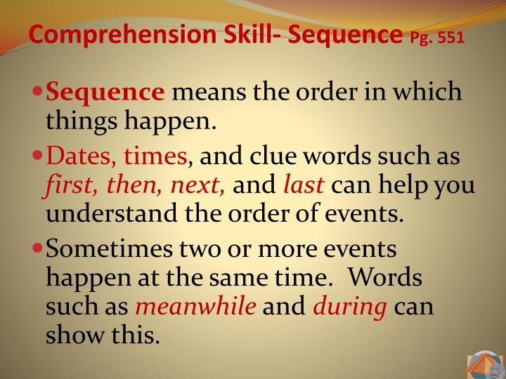 Comprehension Skill-