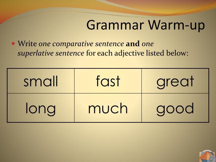 Grammar Warm-up