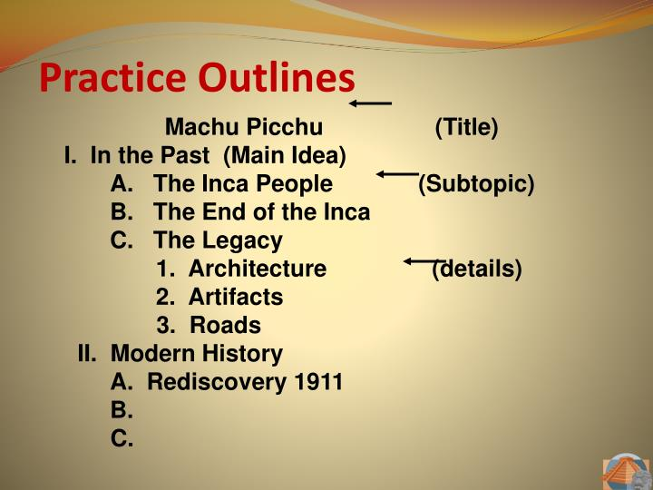 Practice Outlines