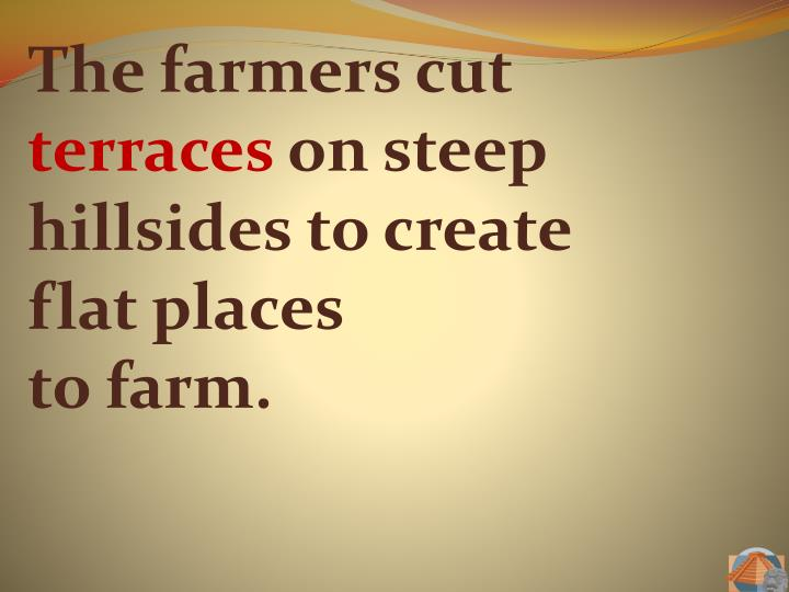 The farmers cut