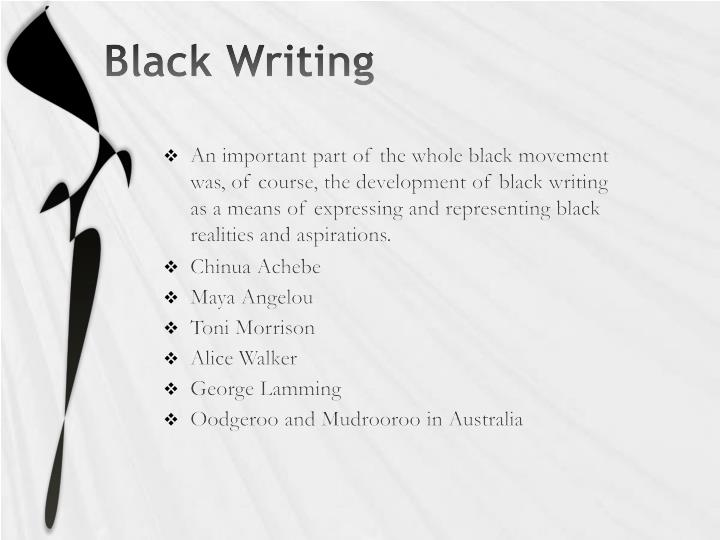 Black Writing