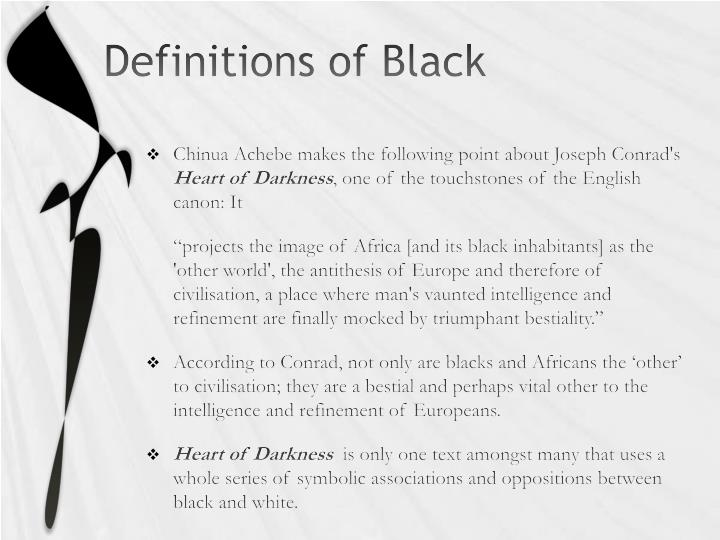 Definitions of Black