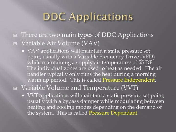 DDC Applications