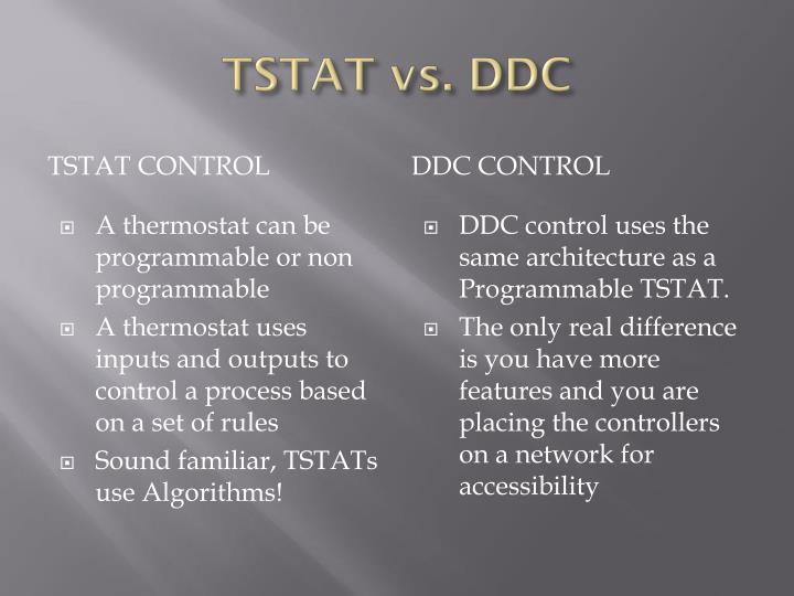 TSTAT vs. DDC
