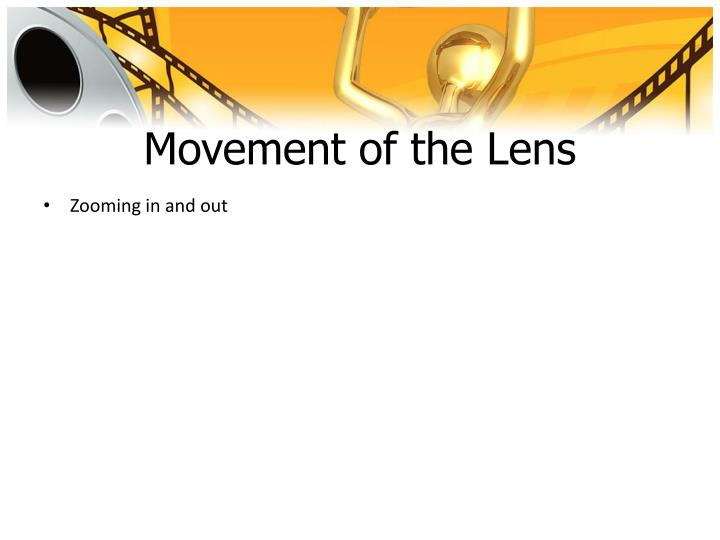 Movement of the Lens